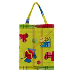 Playful Day   Yellow  Classic Tote Bag by Valentinaart