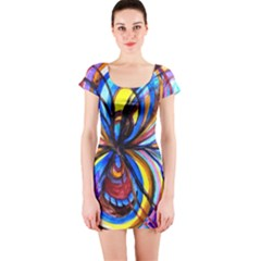 Relationship   Short Sleeve Bodycon Dress by tealswan