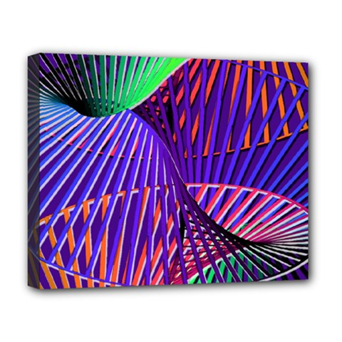 Colorful Rainbow Helix Deluxe Canvas 20  X 16   by designworld65