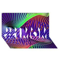 Colorful Rainbow Helix #1 Mom 3d Greeting Cards (8x4) by designworld65