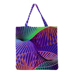 Colorful Rainbow Helix Grocery Tote Bag by designworld65