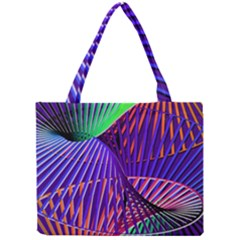 Colorful Rainbow Helix Mini Tote Bag by designworld65