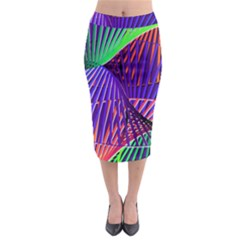 Colorful Rainbow Helix Midi Pencil Skirt by designworld65