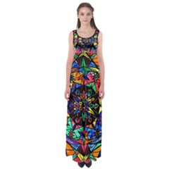 Reveal the Mystery - Empire Waist Maxi Dress by tealswan