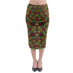 Mandela Check Midi Pencil Skirt by MRTACPANS