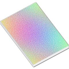 Rainbow Colorful Grid Large Memo Pads by designworld65