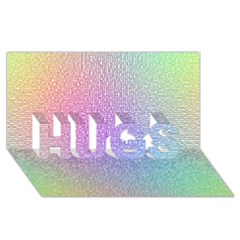 Rainbow Colorful Grid Hugs 3d Greeting Card (8x4) by designworld65