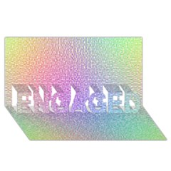 Rainbow Colorful Grid Engaged 3d Greeting Card (8x4) by designworld65