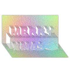 Rainbow Colorful Grid Merry Xmas 3d Greeting Card (8x4) by designworld65