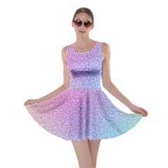 Rainbow Colorful Grid Skater Dress by designworld65
