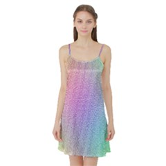 Rainbow Colorful Grid Satin Night Slip by designworld65