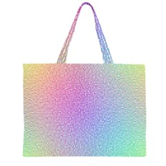 Rainbow Colorful Grid Zipper Large Tote Bag by designworld65