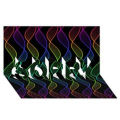 Rainbow Helix Black Sorry 3d Greeting Card (8x4) by designworld65