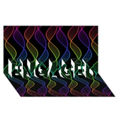 Rainbow Helix Black Engaged 3d Greeting Card (8x4) by designworld65