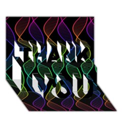 Rainbow Helix Black Thank You 3d Greeting Card (7x5) by designworld65
