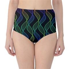 Rainbow Helix Black High Waist Bikini Bottoms by designworld65