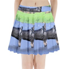 Wirehaired Dachshund Full Pleated Mini Skirt by TailWags