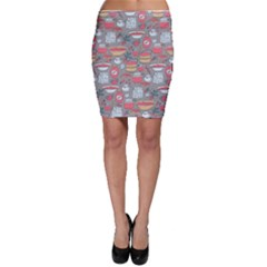 Jam Pattern Bodycon Skirt