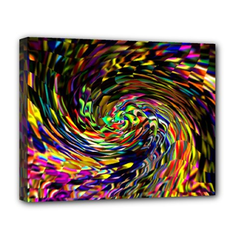 Abstract Art, Colorful, Texture Deluxe Canvas 20  X 16   by AnjaniArt