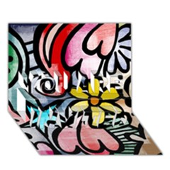 Abstract Doodle You Are Invited 3d Greeting Card (7x5) by AnjaniArt
