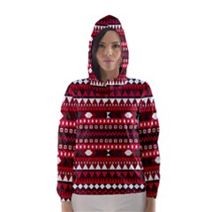 Asterey Red Pattern Hooded Wind Breaker (women)