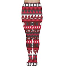 Asterey Red Pattern Women s Tights