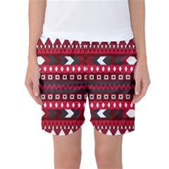 Asterey Red Pattern Women s Basketball Shorts