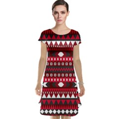 Asterey Red Pattern Cap Sleeve Nightdress