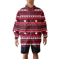Asterey Red Pattern Wind Breaker (kids)