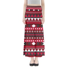 Asterey Red Pattern Maxi Skirts