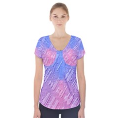 Baby Pattern Short Sleeve Front Detail Top