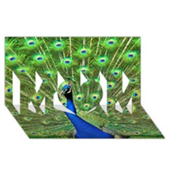 Bird Peacock Mom 3d Greeting Card (8x4)