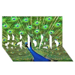 Bird Peacock #1 Dad 3d Greeting Card (8x4)