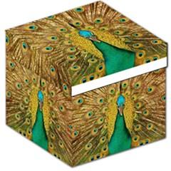 Bird Peacock Feathers Storage Stool 12