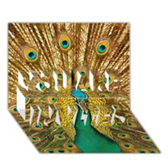 Bird Peacock Feathers You Are Invited 3d Greeting Card (7x5)