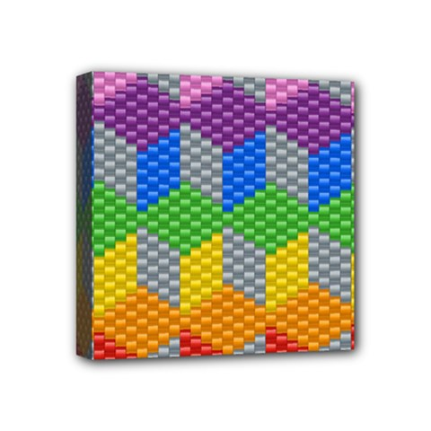 Block Pattern Kandi Pattern Mini Canvas 4  X 4