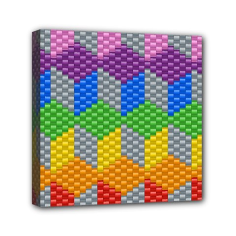 Block Pattern Kandi Pattern Mini Canvas 6  X 6