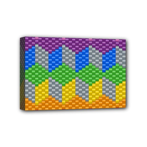 Block Pattern Kandi Pattern Mini Canvas 6  X 4