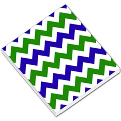 Blue And Green Chevron Pattern Small Memo Pads