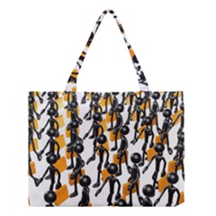 Business Men Marching Concept Medium Tote Bag by AnjaniArt