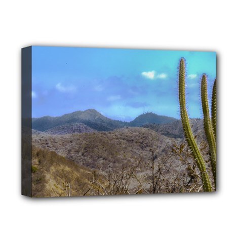 Landscape Scene Machalilla National Park Ecuador Deluxe Canvas 16  X 12   by dflcprints