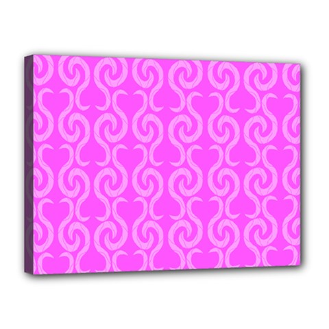 Pink Elegant Pattern Canvas 16  X 12  by Valentinaart