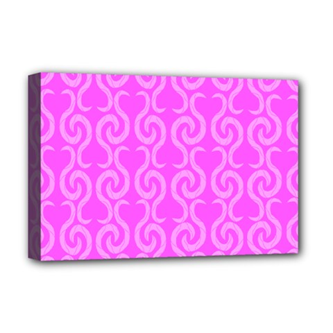 Pink Elegant Pattern Deluxe Canvas 18  X 12   by Valentinaart