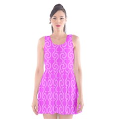 Pink elegant pattern Scoop Neck Skater Dress by Valentinaart
