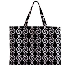 Black And White Pattern Zipper Mini Tote Bag by Valentinaart