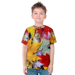 Coloorfull Leave Kids  Cotton Tee