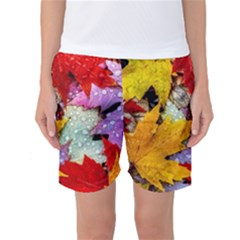 Coloorfull Leave Women s Basketball Shorts by AnjaniArt