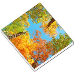 Colorful Leaves Sky Small Memo Pads by AnjaniArt