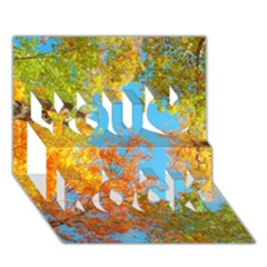 Colorful Leaves Sky You Rock 3d Greeting Card (7x5) by AnjaniArt