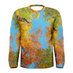 Colorful Leaves Sky Men s Long Sleeve Tee by AnjaniArt